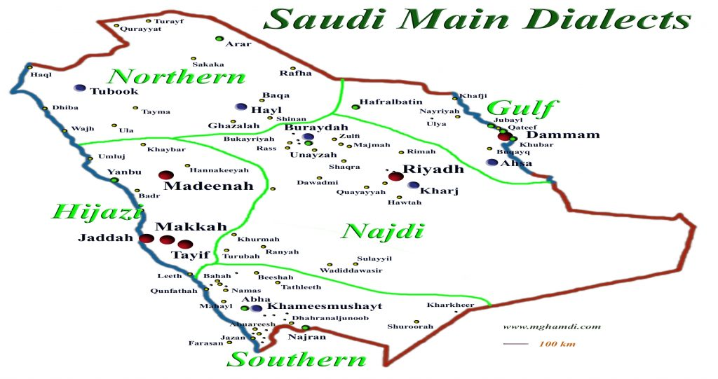 Dialect Map on